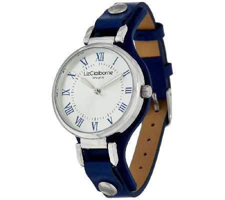 Liz Claiborne New York Watch w/ Horsebit Details