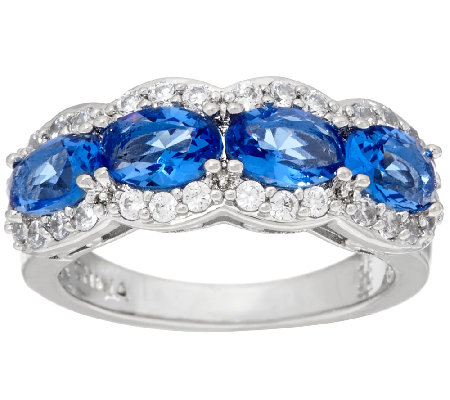 The Elizabeth Taylor Simulated Gemstone Band Ring