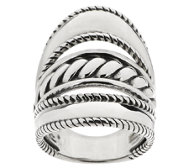 Carolyn Pollack Sterling Silver Three-Row Ring