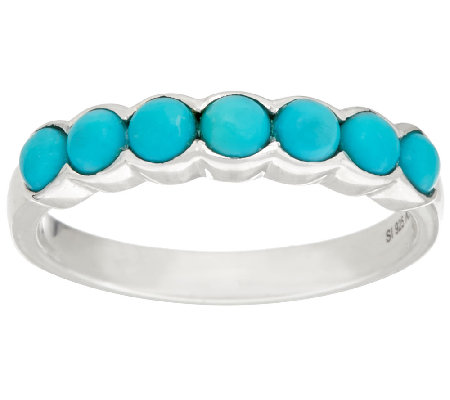 Sleeping Beauty Turquoise Sterling Silver Band Ring