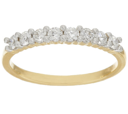 """As Is"" 98 Facet Diamond Band Ring, 14K 4/10 cttw by Affinity"