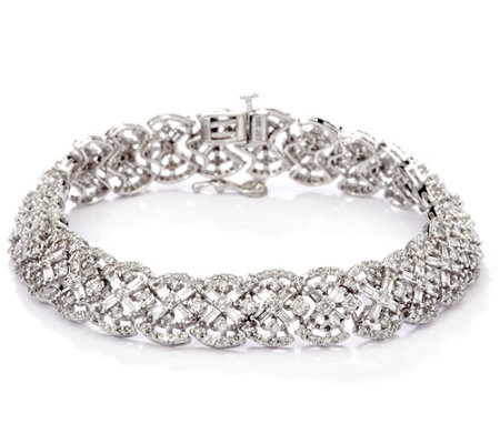 "Estate Style 7-1/4"" Diamond Bracelet, 14K, 5.10 cttw, by Affinity"