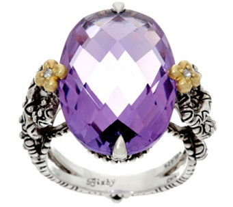 Barbara Bixby Sterling & 18K Amethyst Ring - J331257