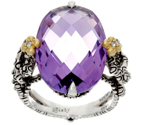 Barbara Bixby Sterling & 18K Amethyst Ring