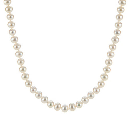 """As Is"" Honora Cultured Pearl 6.0mm Potato 18"" Sterling Necklace"