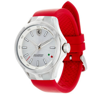 Ferrari Women's Red Silicone Strap Donna Watch - J334357