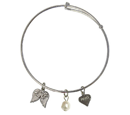 Catherine Galasso Angel Wings Bangle Bracelet