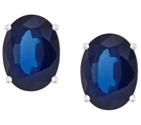 Premier 2.40cttw Oval Sapphire Stud Earrings, 14K