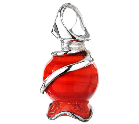 Kalos by Hagit Sterling Pomegrante Glass Pendant