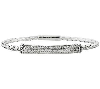 Woven Diamond Bracelet Sterling 5/8 cttw by Aff inity - J340357