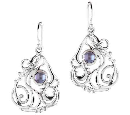 Hagit Sterling & Cultured Freshwater Pearl Openwork Earrings