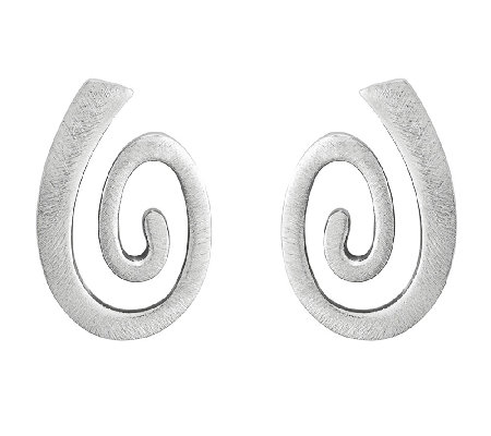 Sterling Swirl Dangle Earrings