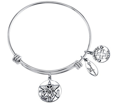 Extraordinary Life Sterling Nurse AdjustableBangle