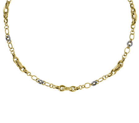 "14K Gold Two-Tone Polished & Textured 26"" Necklace"