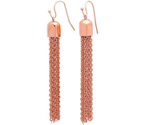 Stainless Steel Tassel Drop Earrings
