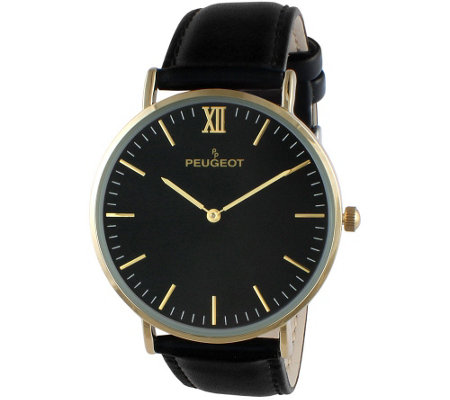 Peugeot Men's Slim Goldtone Watch
