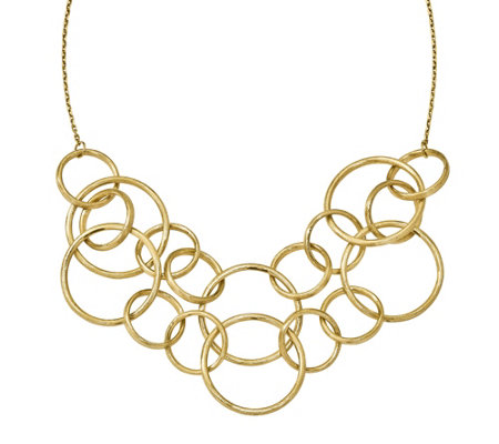"14K Gold Round Link 17"" Necklace, 18.0g"
