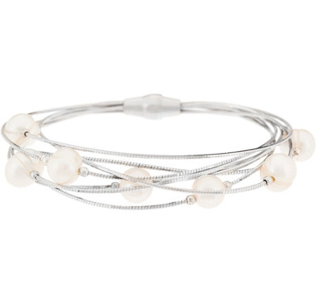Honora Cultured Pearl Multi-Strand Sterling Bracelet