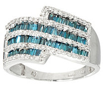 Baguette Colored Diamond Ring, Sterling 1.00 cttw by Affinity - J347757
