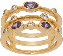 Melinda Maria Three Band Stack Ring - J352157