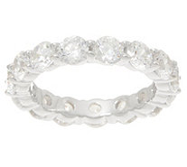 Diamonique Round Eternity Band Ring, Sterling Silver - J354257