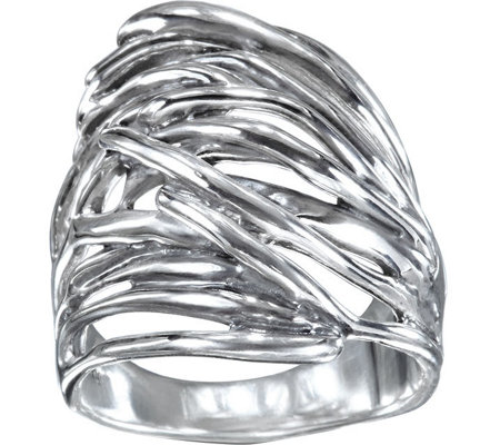 Hagit Sterling Silver Wave Ring