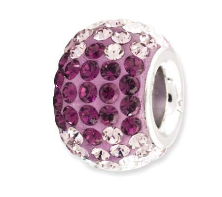 Prerogatives Sterling Purple Crystal Bead