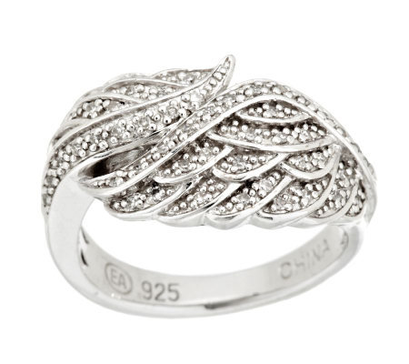 Angel Wing Diamond Ring, Sterling 1/7 cttw by Affinity
