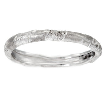 Mary Esses Sterling Stackable Wrapped Band Ring - J290658