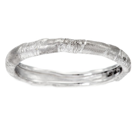 Mary Esses Sterling Stackable Wrapped Band Ring
