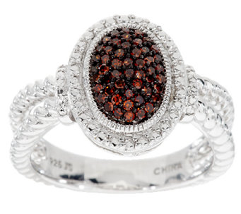 Pave' Color Oval Diamond Ring, Sterling, 1/4 cttw, by Affinity - J291358