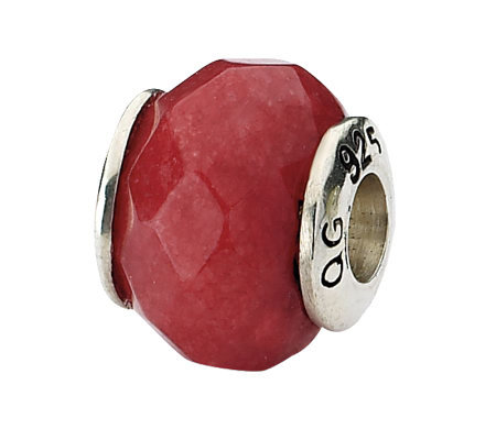Prerogatives Sterling Red Quartz Gemstone Bead
