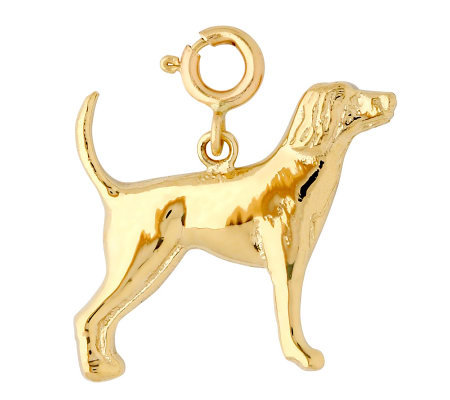 14K Yellow Gold Labrador Dog Charm