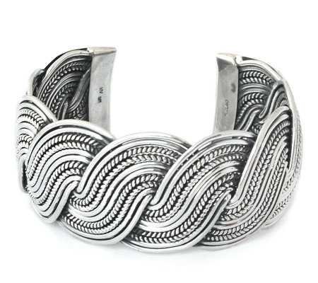 "Novica Artisan Crafted Sterling ""Tropical Surf""Cuff"