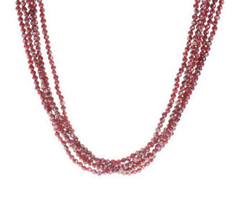Barbara Bixby Sterling 5-Strand Faceted GemTorsade - J309058