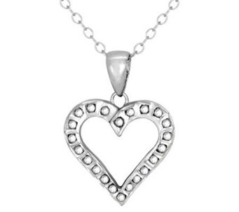 Diamond Fascination Sterling Heart Pendant withChain - J309958