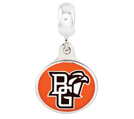 Sterling Silver Bowling Green University DangleBead
