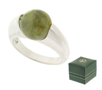 Connemara Marble Sterling Silver Worry Ring - J316758