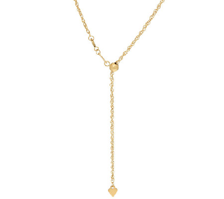 "EternaGold 25"" Adjustable Perfectina Necklace 14K Gold, 1.6g"
