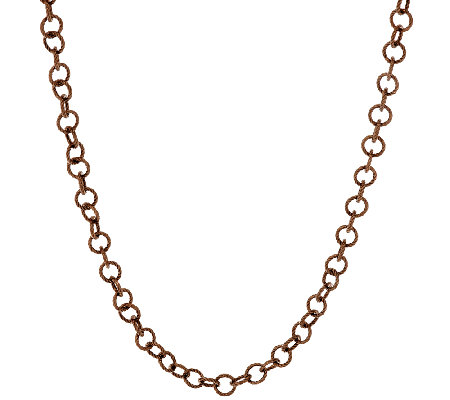 "Judith Ripka Sterling 36"" Verona Circle Link Chain Necklace"