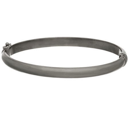 Bronze Polished Oval Hinged Bangle by Bronzo Italia