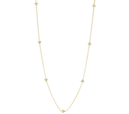 "Judith Ripka 14K Clad 36"" Diamonique Cherry Station Necklace"