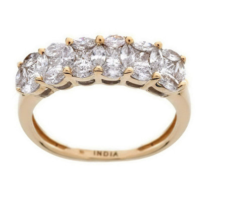 """As Is"" 6-Stone Cluster Design Diamond Ring, 14K, 6/10 cttw by Affinity"