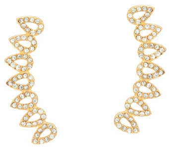BaubleBar Pave Crystal Ear Climber Earrings - J335458