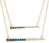 LOGO Links by Lori Goldstein Set of Two Delicate Bar Necklaces - J346958