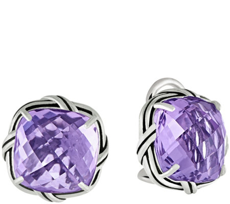 Peter Thomas Roth Sterling Cushion-Cut Gemstone Earrings