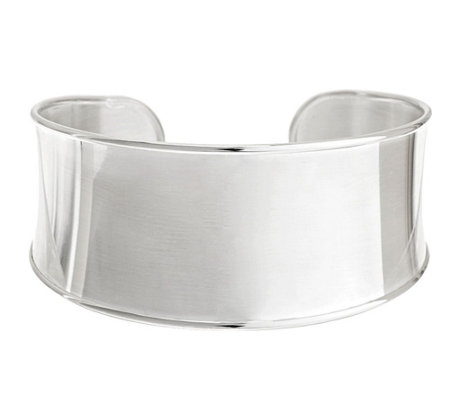 """As Is"" UltraFine Silver Average Polished Cuff, 24.5g"