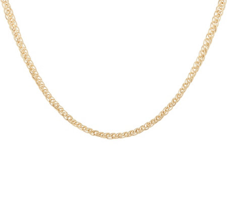 "14K Gold 20"" Wheat Chain Necklace, 5.7g"