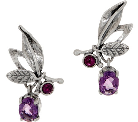 Or Paz Sterling Multi-gemstone Ear Climbers