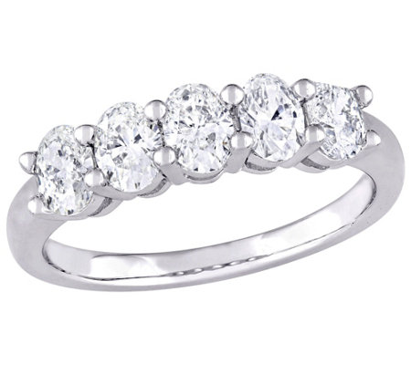 Affinity 14K 1.00 cttw Oval-cut Diamond 5-StoneBand Ring
